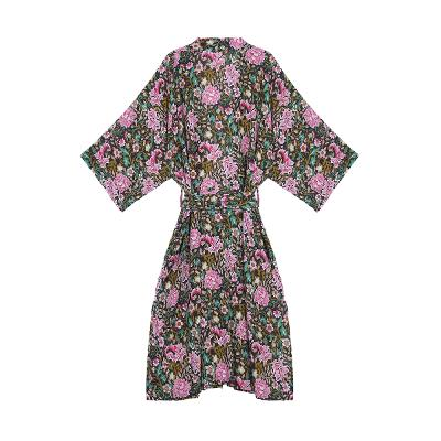flower long sleeve robe1